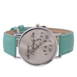 Tyrkysové hodinky sú ako stvorené pre nezávislého človeka, ktorý čas moc nerieši :)