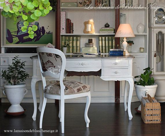shabby chic desk-scrivania shabby chic by MaisonBlancheNeige