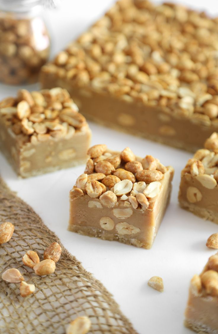 These salty-sweet peanut bars are the perfect hybrid of cookie and candy bar.