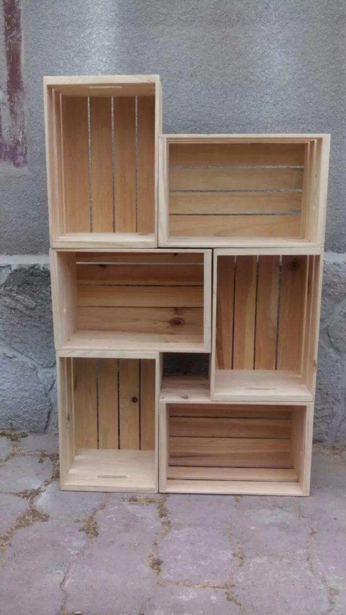 Cajas De Madera De Pino Tipo Huacal - $ 130.00