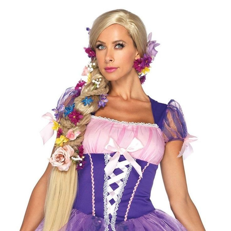 adult disney princess rapunzel long blonde wig halloween costume accessory - Halloween Costumes With Blonde Wig