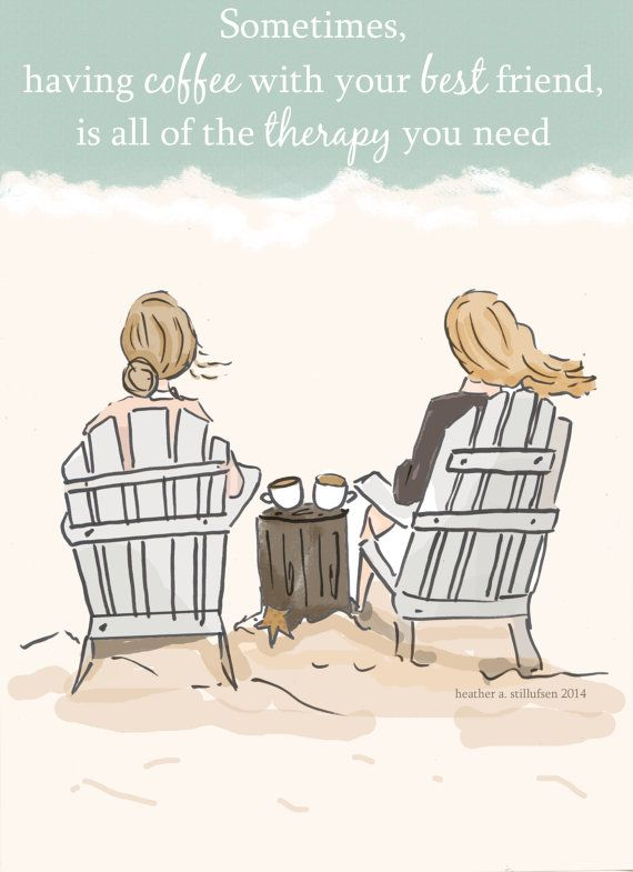 Friendship and coffee.. by RoseHillDesignStudio,