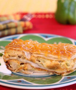 Crockpot Chicken Enchilada Stack