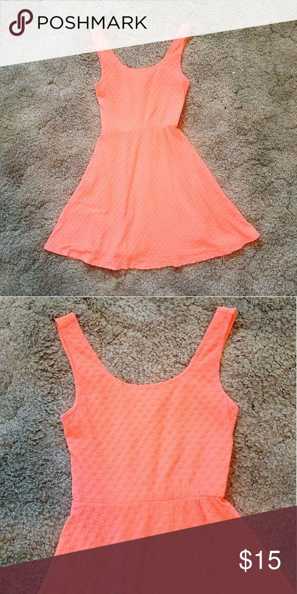 Salmon dress Salmon textured dress Mossimo Supply Co. Dresses Mini