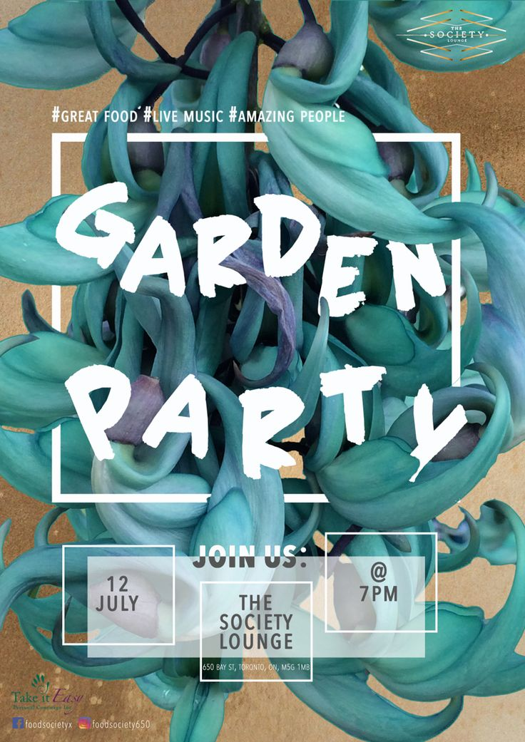 Little poster I designed for a garden party!