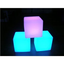 LED CUBE 16INCH RGB IP68 STOOL