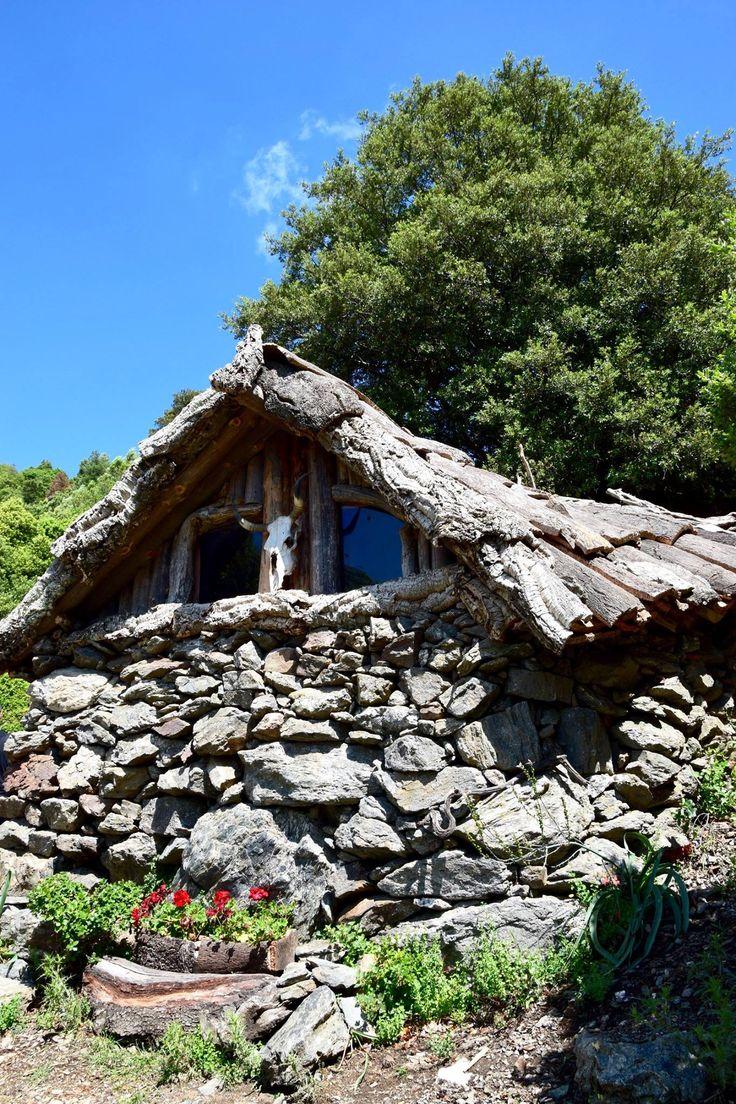 Erbe Lathori, an ancient hut where shepherds of Gennargentu slept in the past, Villagrande Strisaili, Ogliastra, Sardinia #enjoyogliastra
