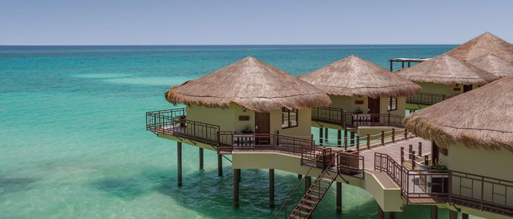 All Inclusive Adults Only Resort |  El Dorado Maroma Resort  Over water bungalows in Mexico