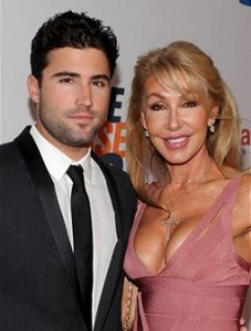 Linda Thompson and youngest son Brody Jenner.