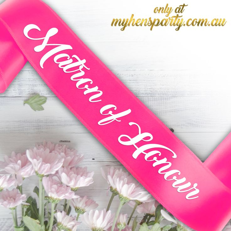 Matron of HonourPrintedSash Our stylishMatron of Honour Printed Sashis the latest trend in wedding must haves! Made in-house at the My Hens Party Shop in Sydney we offer you...