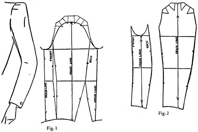 Variations of two-pieced sleeves