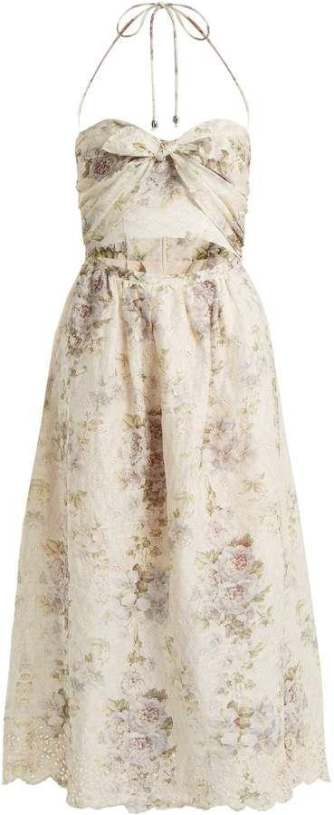 0deec47c07e ZIMMERMANN Iris Picnic floral-print linen dress