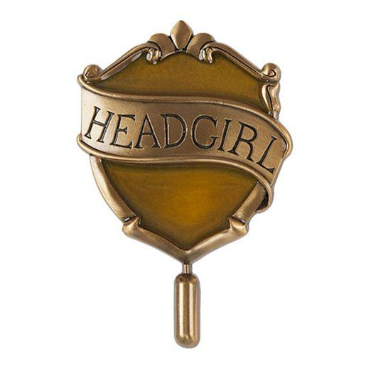 Wizarding World of Harry Potter : Hogwarts Hufflepuff Head Girl House Badge Metal Trading Pin