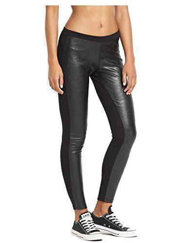 5dd355c8a2fd Women s PU Knit Legging Black 10001633-001