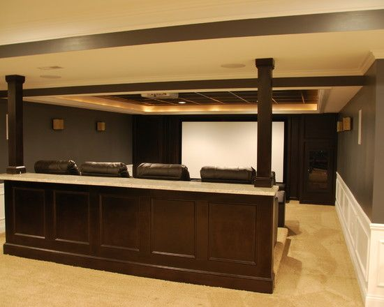 1000 images about basement on pinterest hallways for Basement home theater plans