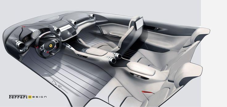 Rendering of the #Ferrari GTC4 Lusso interior