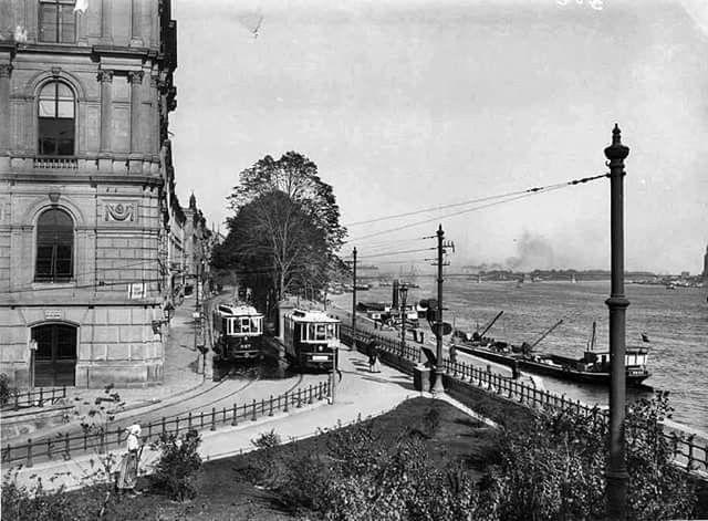 1908 Margit rakpart, a Margit hídról