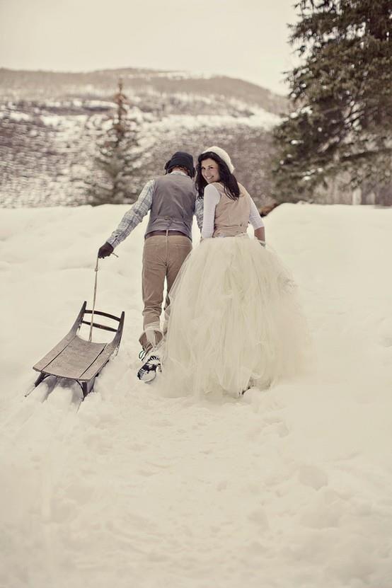 Trouwen met kerst: de mooiste winterse bruiden & bruidsmeisjes