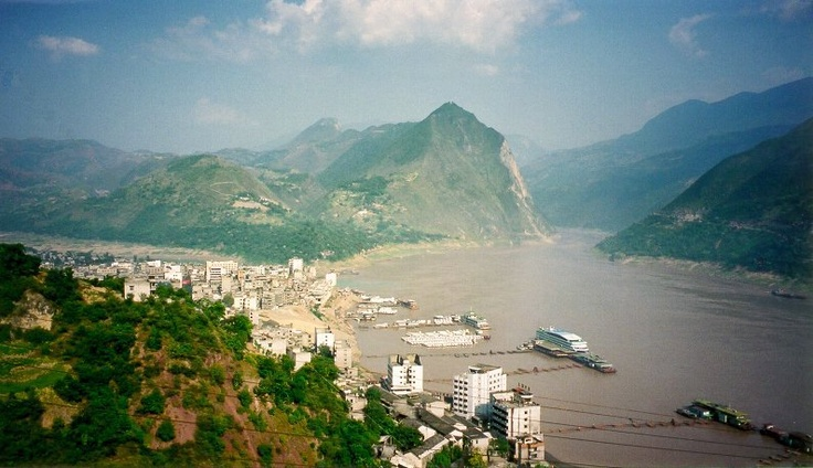 One of the Yangtze's famous Three Gorges (Qutang, Wu & Xiling)