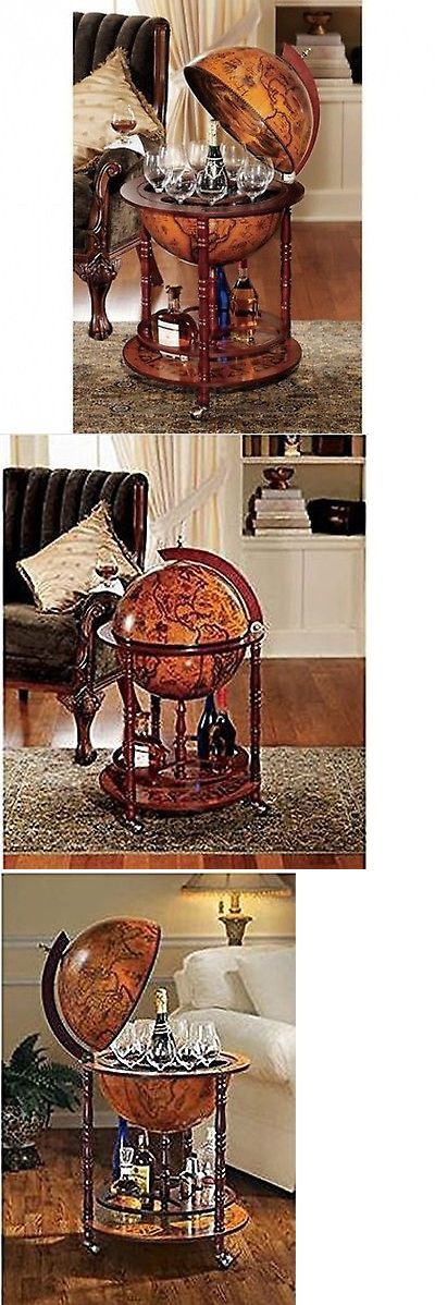 Home Pubs and Bars 115713: Bar Globe Old World Italian Wine Liquor Cabinet Storage Style Mini Stand New Map -> BUY IT NOW ONLY: $126.49 on eBay!