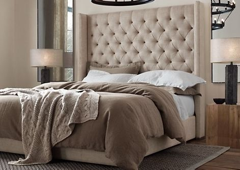 Image result for headboard deep buttoned with pom pom