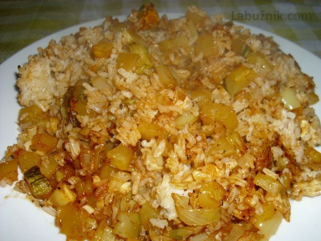 Zapečená cuketa s rýží