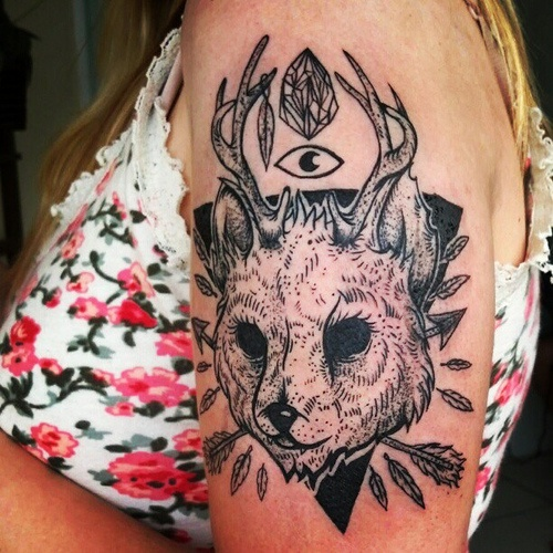 Jackalope Tattoo Tumblr Jackalope tattoo | Tat...
