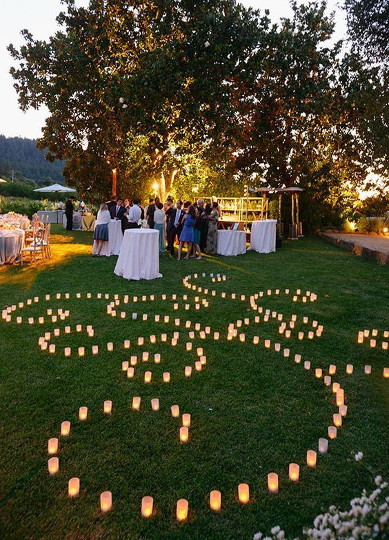Beautiful candle lighting, Wedding Decorations, Outdoor wedding ideas, Photo by Sylvie Gil Photography