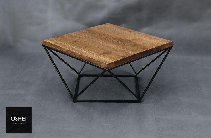 OSHEI - Lattice - stolik kawowy - stare drewno - OSHEI - Stoliki kawowe