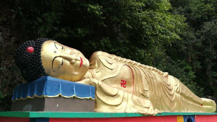 Sleeping Buddha in Taoist Temple Ipoh, Malaysia.