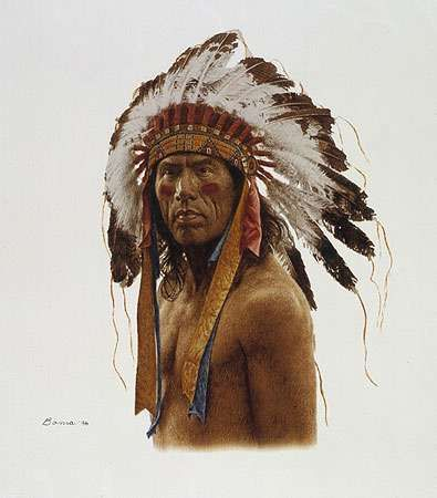 cheyenne indian dog soldiers | The Warrior (giclee) art print by James Bama