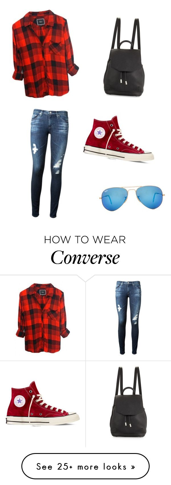Converse At Its Best by hannah5326 on Polyvore featuring AG Adriano Goldschmied, Converse, Ray-Ban and rag  bone