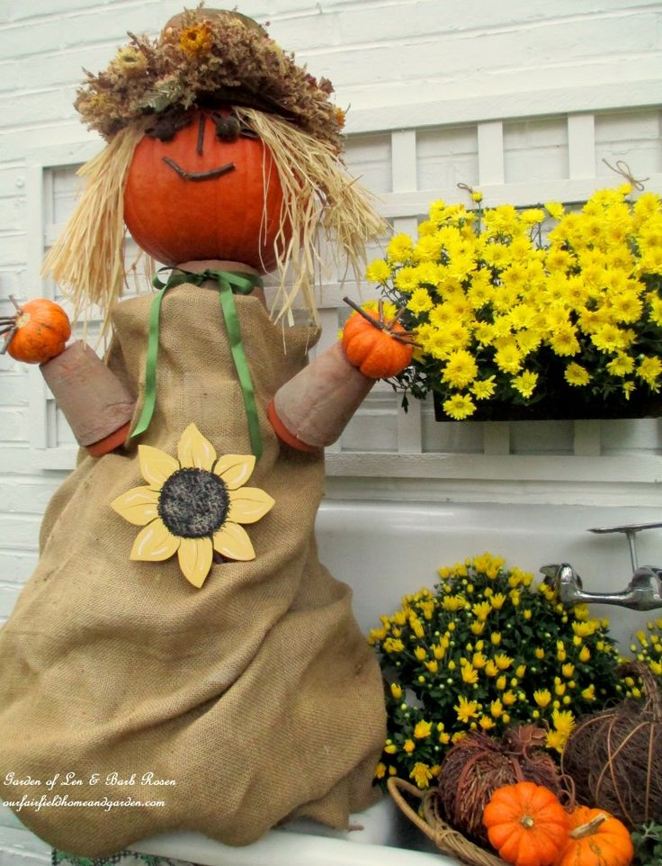 17 Best Images About Scarecrows And Pumpkin People On