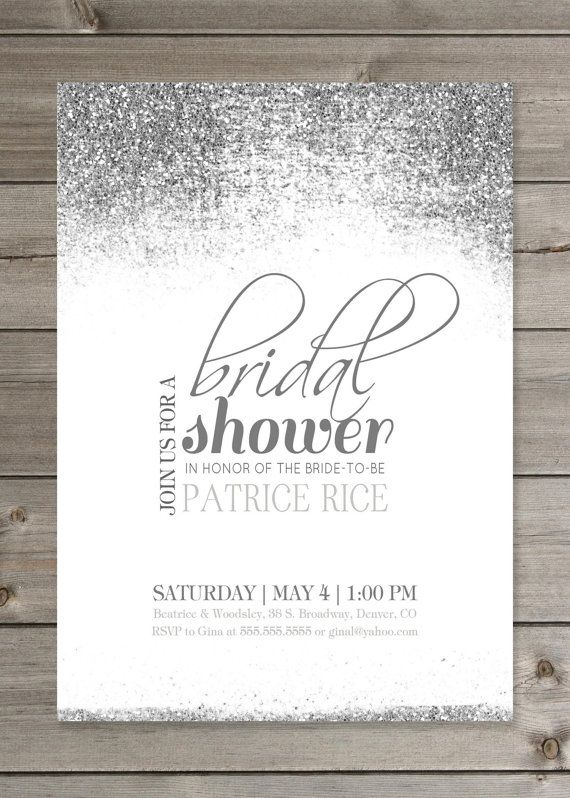 bridal shower glitter invitation 5x7 by gaiadesignstudios on etsy future wedding stuff pinterest bridal shower bridal and bridal shower