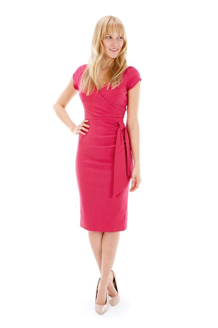 Hourglass Hot Pink Pencil Dress -hourglass -pinkdress -fashion ...