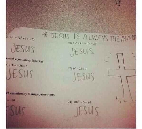 """""""Jesus ist immer die Antwort."""""""