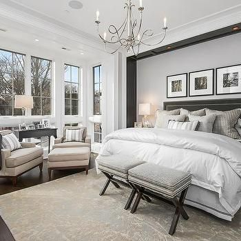Master Bedroom with Headboard Nook Accented with Custom Lighting