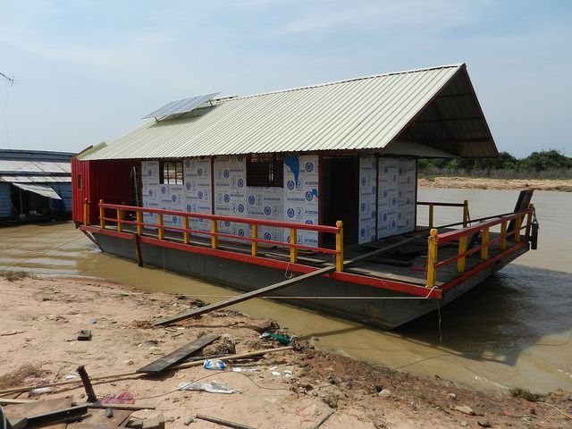 Cambodia floating clinic, under construction