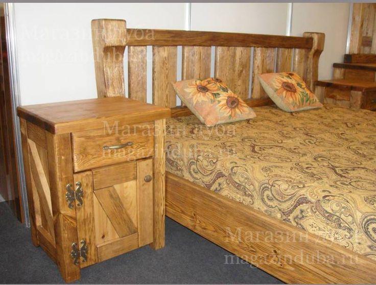 спальня из состаренной сосны