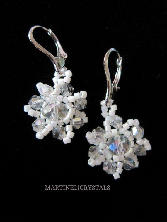 Aurora Borealis Drop Earrings Swarovski AB by MARTINELICRYSTALS