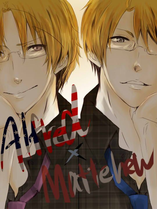 Alfred and Matthew - LOVE this! - Art by たづこ on Pixiv, found via Zerochan