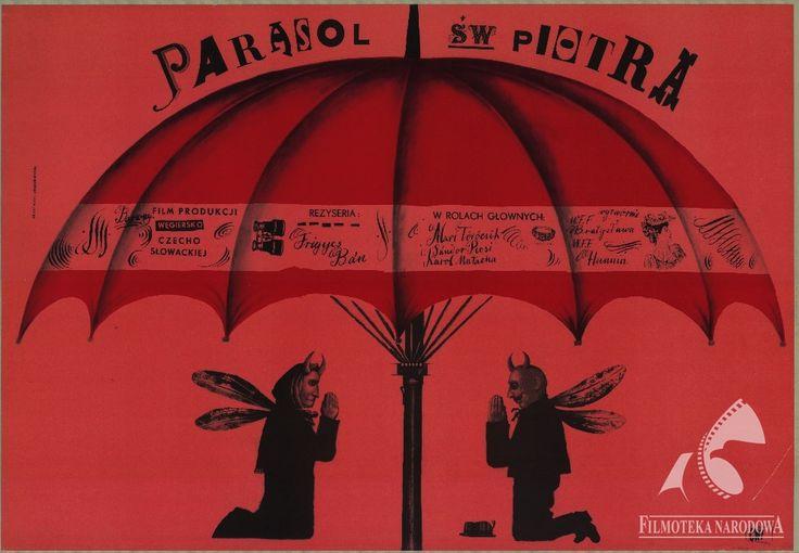 SZENT PÉTER ESERNYÖJE, dir.  Frigyes Bán, Vladislav Pavlovič (1958). Polish poster: Franciszek Starowieyski  (GAPLA) #gapla, #poster #filmposter #polishposter #starowieyski