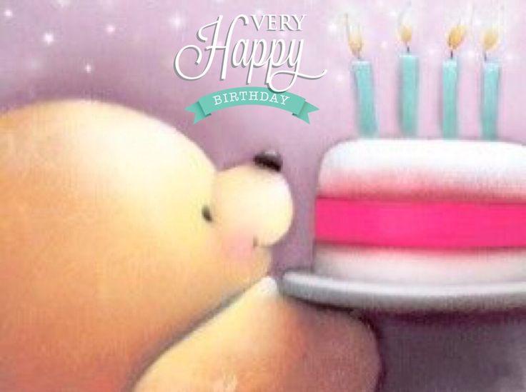 Happy birthday, osito con pastel