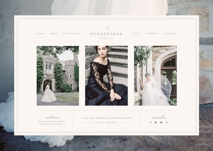 Rendezvous - Showit Premium Photography Website Template
