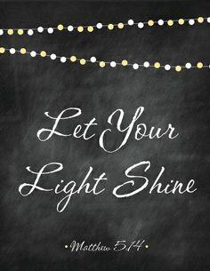 let your light shine matthew 5 14-16 - Google Search