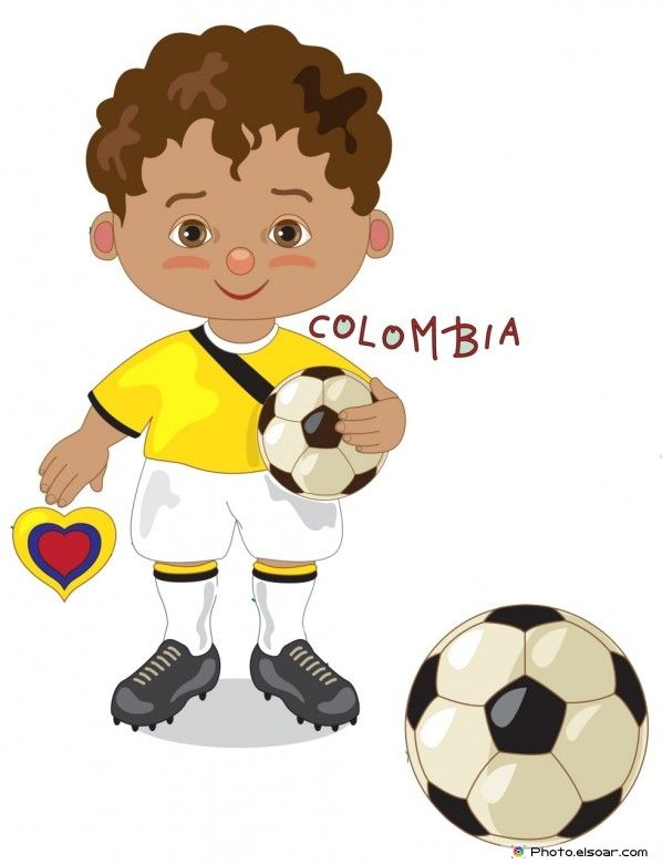 Colombia National Jersey, Cartoon Soccer Player