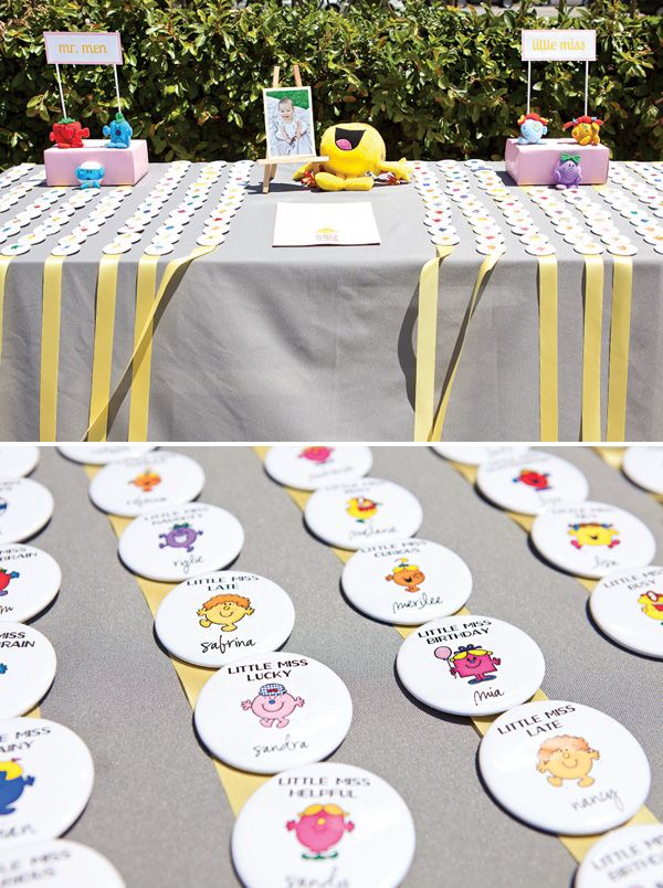 21 best Mr men and little miss birthday party images on Pinterest ...
