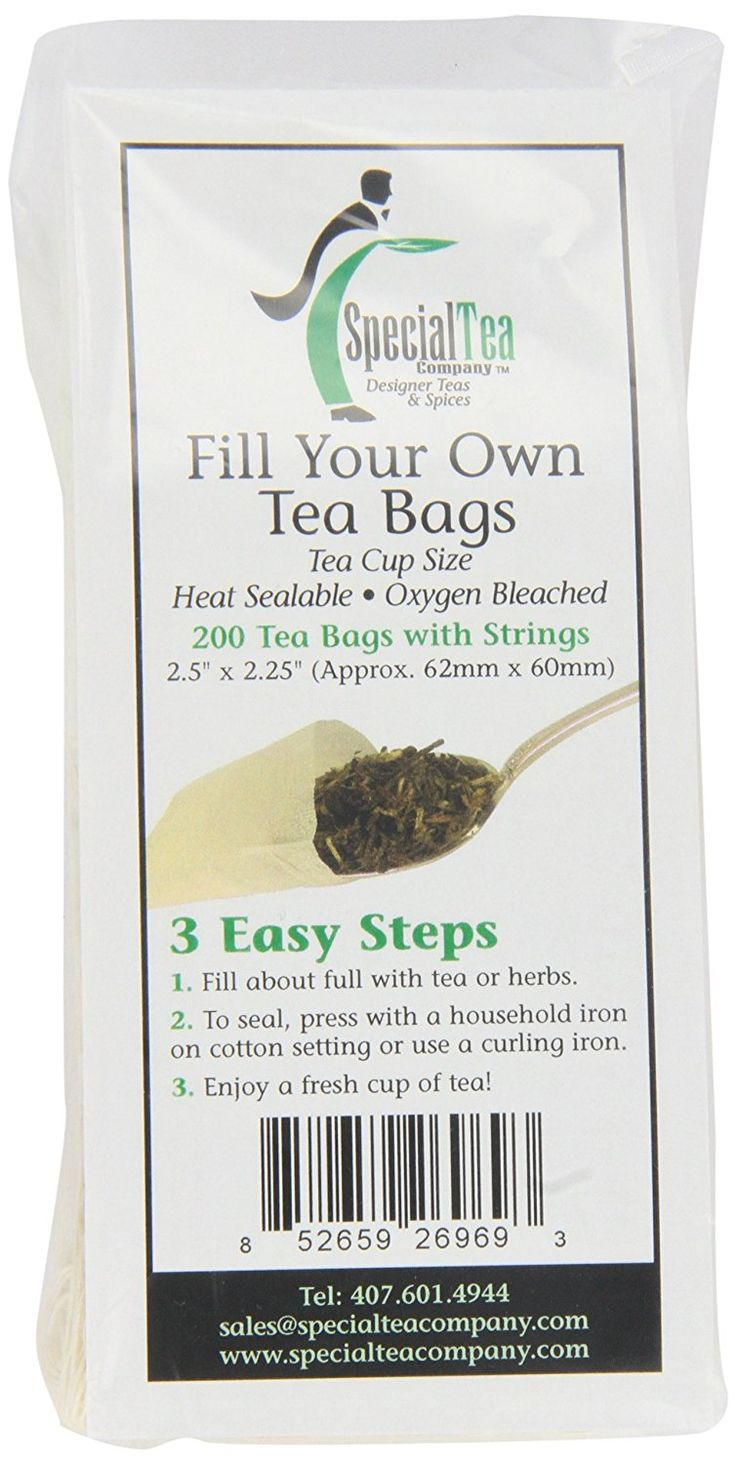Special Tea Company Empty Tea Bags with Strings, 2.5 Inch x 2.25 Inch, 200 Count ** You can get more details at : Amazon fresh