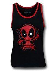 Deadpool Kawaii Ringer Tank Top
