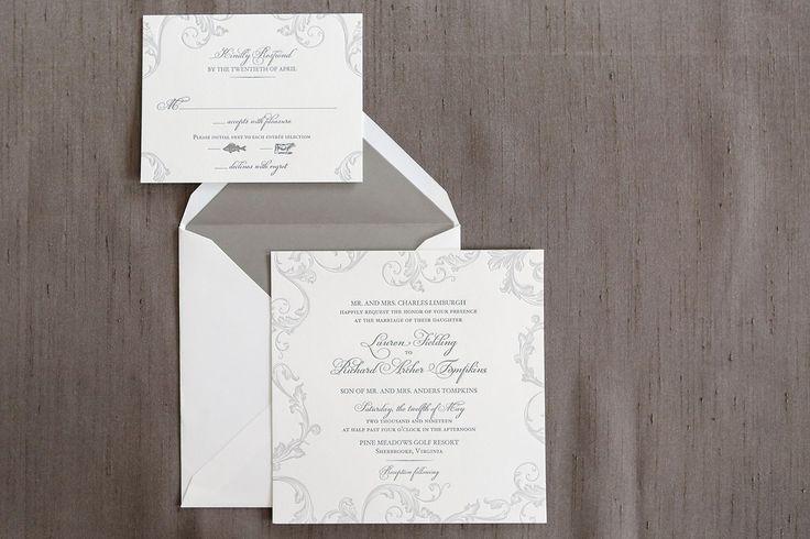 Marigot Letterpress Wedding Invitation